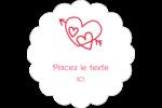 Dessin de la Saint-Valentin Étiquettes festonnées - gabarit prédéfini. <br/>Utilisez notre logiciel Avery Design & Print Online pour personnaliser facilement la conception.