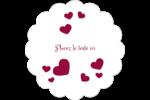 Bulles de Saint-Valentin Étiquettes festonnées - gabarit prédéfini. <br/>Utilisez notre logiciel Avery Design & Print Online pour personnaliser facilement la conception.