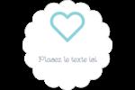 Cœur bleu Étiquettes festonnées - gabarit prédéfini. <br/>Utilisez notre logiciel Avery Design & Print Online pour personnaliser facilement la conception.