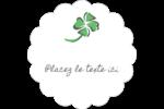 Trèfle de la Saint-Patrick Étiquettes festonnées - gabarit prédéfini. <br/>Utilisez notre logiciel Avery Design & Print Online pour personnaliser facilement la conception.