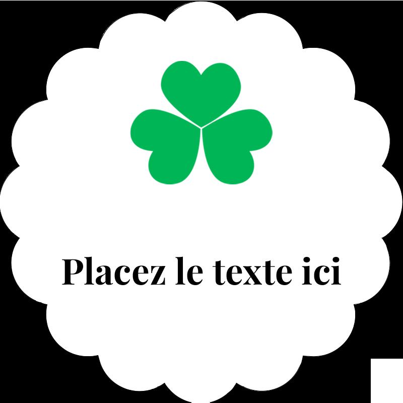 """2"""" Diameter Étiquettes festonnées - Pluie de trèfles de la Saint-Patrick"""