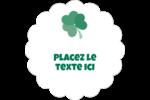 Trèfles en cœur de la Saint-Patrick Étiquettes festonnées - gabarit prédéfini. <br/>Utilisez notre logiciel Avery Design & Print Online pour personnaliser facilement la conception.