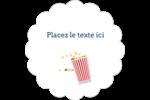 Popcorn et film Étiquettes festonnées - gabarit prédéfini. <br/>Utilisez notre logiciel Avery Design & Print Online pour personnaliser facilement la conception.