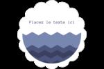 Chevron bleu Étiquettes festonnées - gabarit prédéfini. <br/>Utilisez notre logiciel Avery Design & Print Online pour personnaliser facilement la conception.