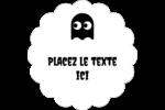 Fantômes Pac-Man d'Halloween Étiquettes festonnées - gabarit prédéfini. <br/>Utilisez notre logiciel Avery Design & Print Online pour personnaliser facilement la conception.