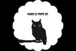 Chouette d'Halloween Étiquettes festonnées - gabarit prédéfini. <br/>Utilisez notre logiciel Avery Design & Print Online pour personnaliser facilement la conception.