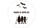 Enfants à l'Halloween Étiquettes festonnées - gabarit prédéfini. <br/>Utilisez notre logiciel Avery Design & Print Online pour personnaliser facilement la conception.