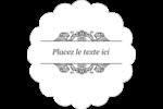 Papier peint gothique Étiquettes festonnées - gabarit prédéfini. <br/>Utilisez notre logiciel Avery Design & Print Online pour personnaliser facilement la conception.