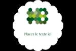 Hexagones verts Étiquettes festonnées - gabarit prédéfini. <br/>Utilisez notre logiciel Avery Design & Print Online pour personnaliser facilement la conception.