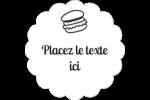 Hamburgers et plus Étiquettes festonnées - gabarit prédéfini. <br/>Utilisez notre logiciel Avery Design & Print Online pour personnaliser facilement la conception.