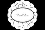 Gribouillis Étiquettes festonnées - gabarit prédéfini. <br/>Utilisez notre logiciel Avery Design & Print Online pour personnaliser facilement la conception.