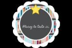 Rayons de bibliothèque Étiquettes festonnées - gabarit prédéfini. <br/>Utilisez notre logiciel Avery Design & Print Online pour personnaliser facilement la conception.