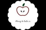 Pomme rouge Étiquettes festonnées - gabarit prédéfini. <br/>Utilisez notre logiciel Avery Design & Print Online pour personnaliser facilement la conception.