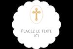 Croix pastel Étiquettes festonnées - gabarit prédéfini. <br/>Utilisez notre logiciel Avery Design & Print Online pour personnaliser facilement la conception.