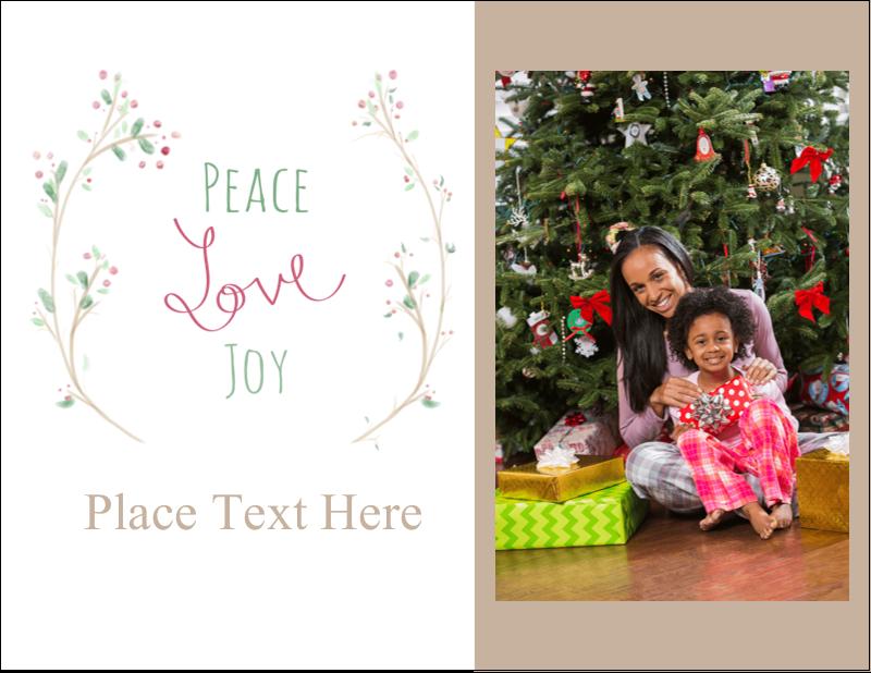 "4¼"" x 5½"" Postcard - Peace Love Joy"