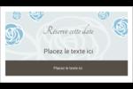 Roses bleues officielles Carte d'affaire - gabarit prédéfini. <br/>Utilisez notre logiciel Avery Design & Print Online pour personnaliser facilement la conception.