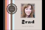 Mortier de diplômé Carte Postale - gabarit prédéfini. <br/>Utilisez notre logiciel Avery Design & Print Online pour personnaliser facilement la conception.