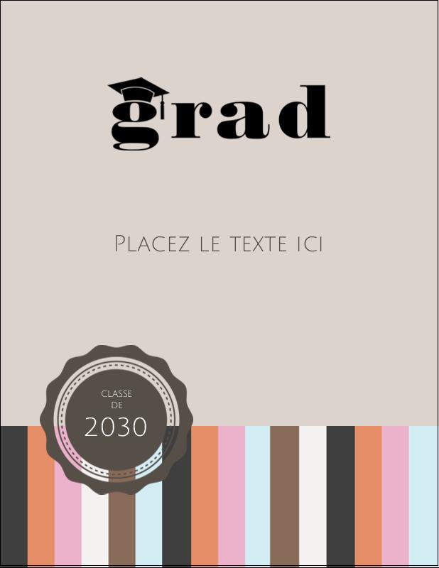 """4¼"""" X 5½"""" Carte Postale - Mortier de diplômé"""