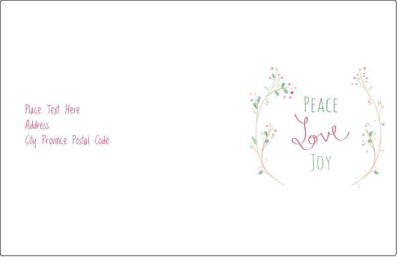 "5½"" x 8½"" Shipping Label - Peace Love Joy"