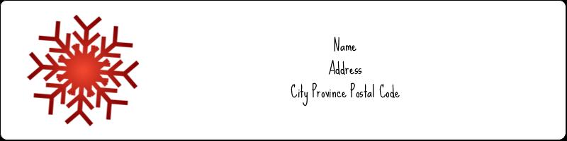 """1"""" x 4"""" Address Label - Felt Snowflakes"""