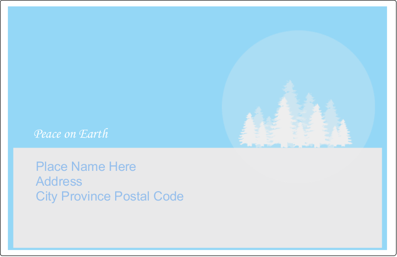 """5½"""" x 8½"""" Shipping Label - Blue Forest"""