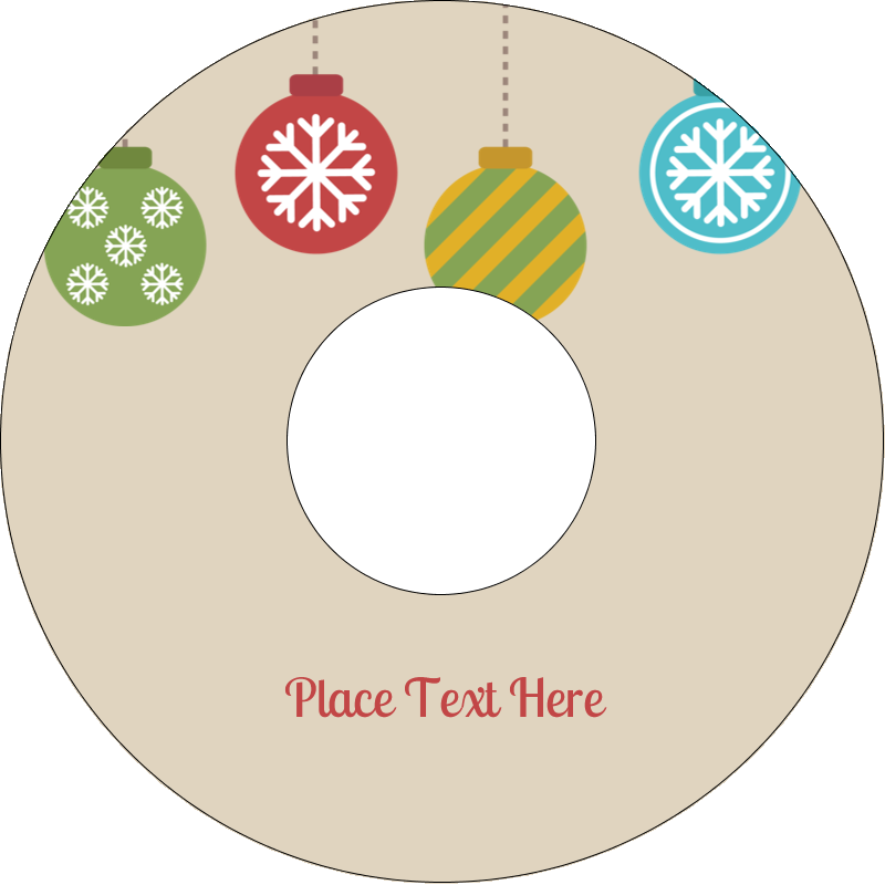 "4.65"" CD-DVD Label - Crafty Ball Ornaments"
