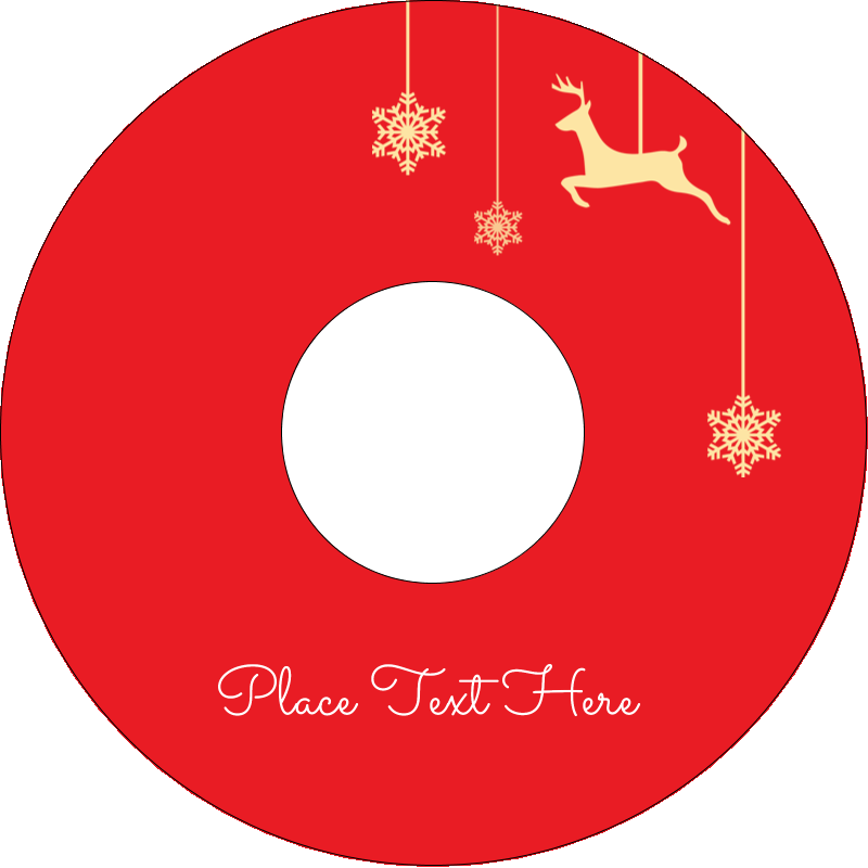 "4.65"" CD-DVD Label - Deer Decor"