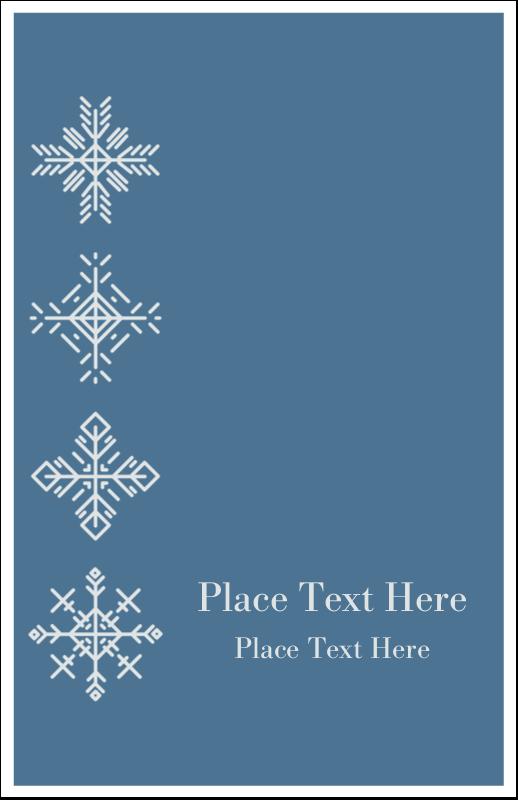 "5"" x 8½"" Half Fold Card - Snowflakes"