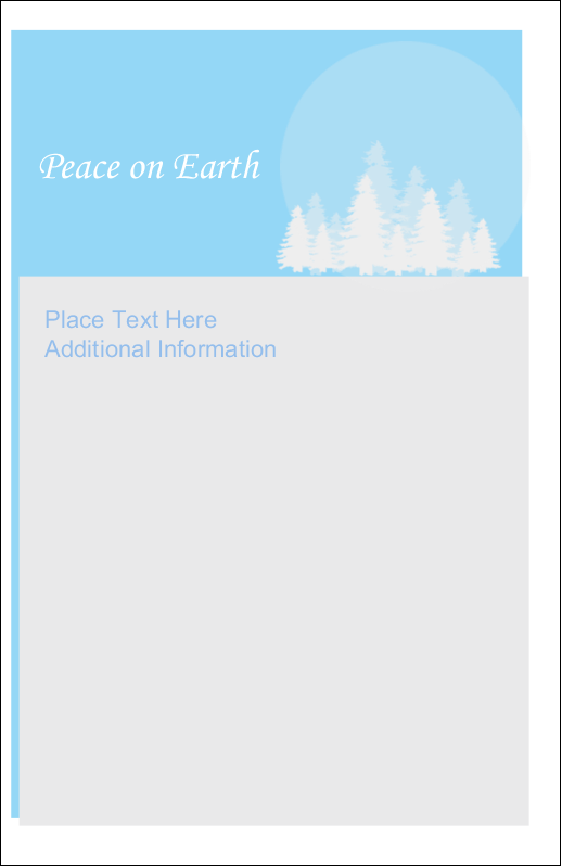 "5"" x 8½"" Half Fold Card - Blue Forest"