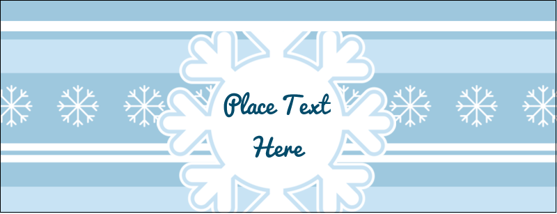 "1-7/16"" x 3¾"" Tent Card - Blue Snowflake"