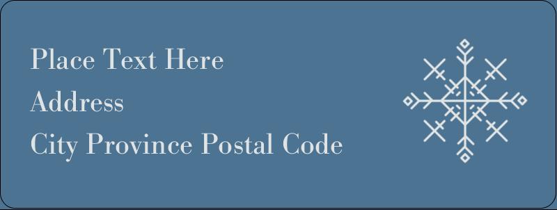 "⅔"" x 1¾"" Address Label - Snowflakes"
