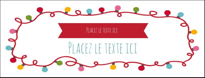 """1-7/16"""" x 3¾"""" Affichette - Les gabarits Lumières de Noël pour votre prochain projet des Fêtes"""