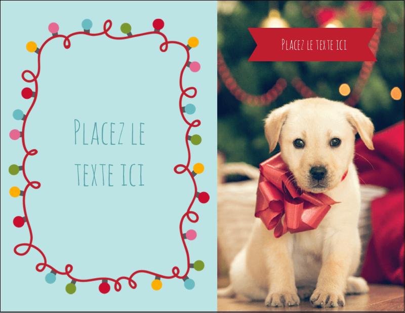 """4¼"""" X 5½"""" Carte Postale - Les gabarits Lumières de Noël pour votre prochain projet des Fêtes"""