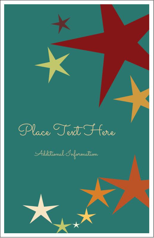 "5"" x 8½"" Half Fold Card - New Year Stars"