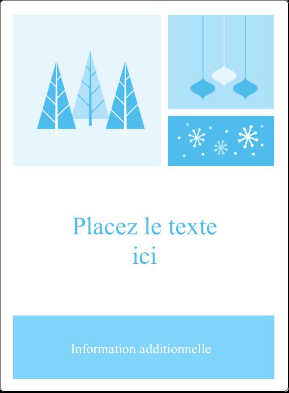 """4¾"""" x 3½"""" Étiquettes rectangulaires - Les gabarits Pays des merveilles hivernales rétro pour votre prochain projet créatif"""