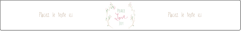 """9¾"""" x 1¼"""" Étiquettes enveloppantes - Les gabarits Paix, amour et joie pour votre prochain projet créatif des Fêtes"""