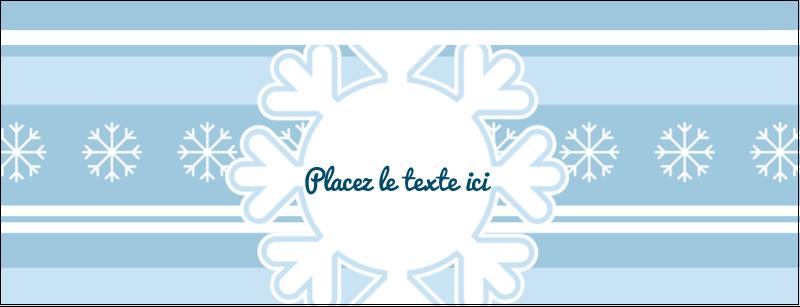 """1-7/16"""" x 3¾"""" Affichette - Les gabarits Flocon de neige bleu pour votre prochain projet des Fêtes"""