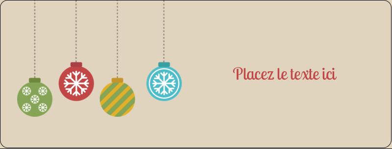 """½"""" x 1¾"""" Étiquettes D'Adresse - Les gabarits Boules décoratives artisanales pour votre prochain projet des Fêtes"""