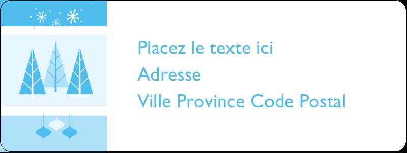 """⅔"""" x 1¾"""" Étiquettes D'Adresse - Les gabarits Pays des merveilles hivernales rétro pour votre prochain projet créatif"""