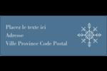 Les gabarits Flocons de neige pour votre prochain projet des Fêtes Étiquettes D'Adresse - gabarit prédéfini. <br/>Utilisez notre logiciel Avery Design & Print Online pour personnaliser facilement la conception.