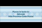 Les gabarits Flocon de neige bleu pour votre prochain projet des Fêtes Étiquettes D'Adresse - gabarit prédéfini. <br/>Utilisez notre logiciel Avery Design & Print Online pour personnaliser facilement la conception.