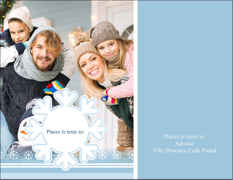 """5½"""" x 4¼"""" Carte Postale - Les gabarits Flocon de neige bleu pour votre prochain projet des Fêtes"""
