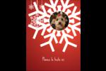Les gabarits Flocons de neige en feutre pour votre prochain projet des Fêtes Carte Postale - gabarit prédéfini. <br/>Utilisez notre logiciel Avery Design & Print Online pour personnaliser facilement la conception.