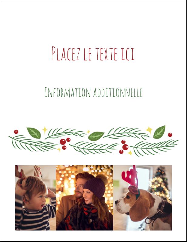 """4¼"""" X 5½"""" Carte Postale - Les gabarits Guirlande pour votre prochain projet des Fêtes"""