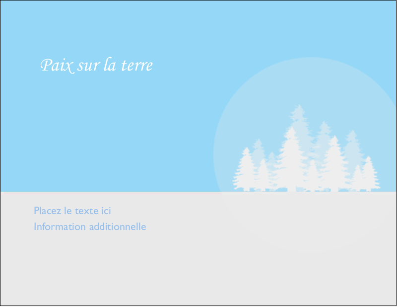 """4¼"""" X 5½"""" Carte Postale - Forêt bleue"""