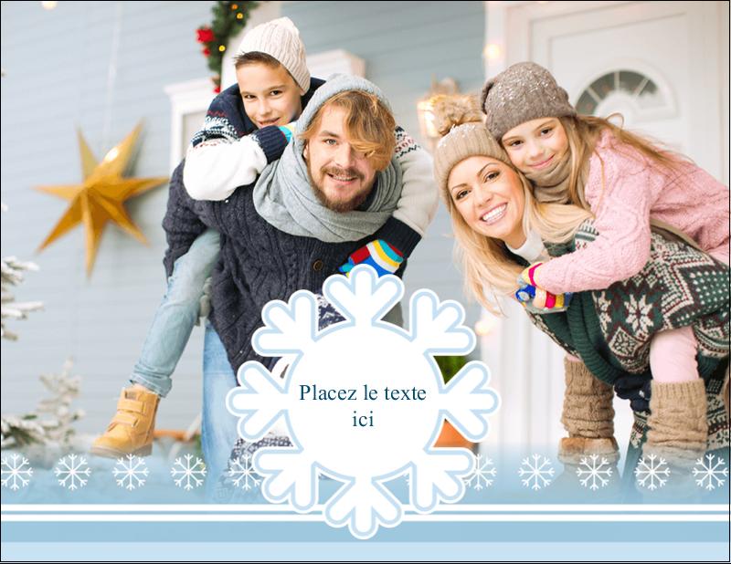 """4¼"""" X 5½"""" Carte Postale - Les gabarits Flocon de neige bleu pour votre prochain projet des Fêtes"""