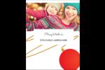 Boules de Noël Carte Postale - gabarit prédéfini. <br/>Utilisez notre logiciel Avery Design & Print Online pour personnaliser facilement la conception.