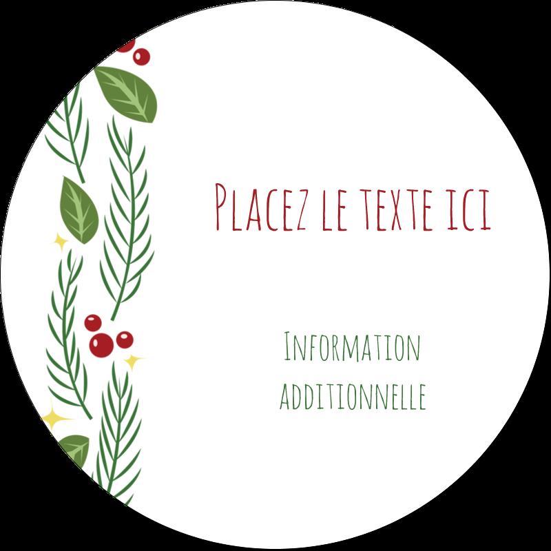 """3"""" Diameter Étiquettes rondes - Les gabarits Guirlande pour votre prochain projet des Fêtes"""