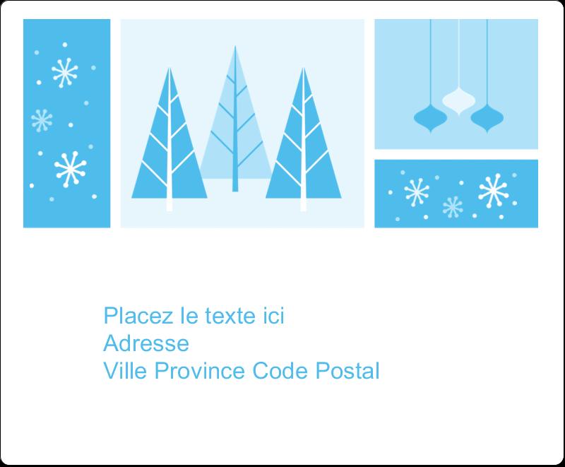 """3⅓"""" x 4"""" Étiquettes d'expédition - Les gabarits Pays des merveilles hivernales rétro pour votre prochain projet créatif"""