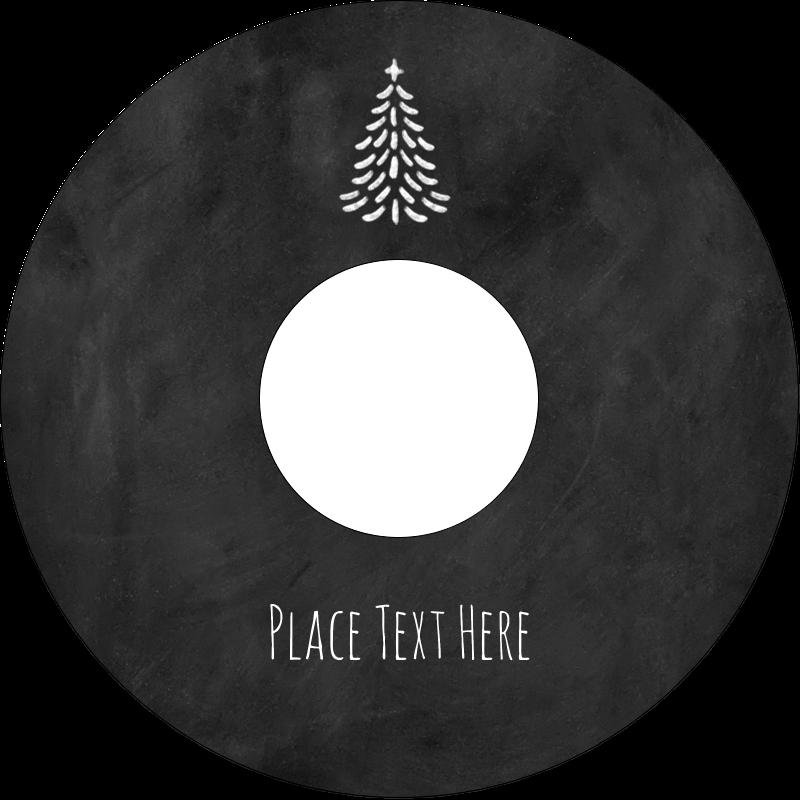"""4.65"""" CD-DVD Label - Chalkboard Tree"""